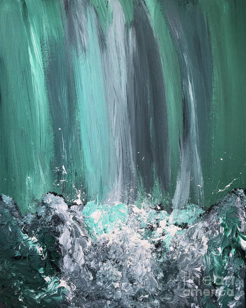 Painting - Rushing Waters by Karen Nicholson