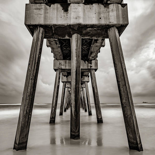 Wall Art - Photograph - Russell Fields Pier - Panama City Beach In Sepia by Gregory Ballos