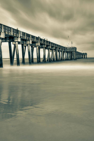 Photograph - Russell Fields Pier - Panama City Beach Sepia by Gregory Ballos