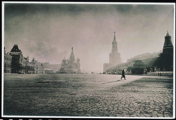 Town Square Wall Art - Photograph - Russia, Moscow, Red Square, St Basils by Adri Berger