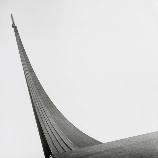 Outdoors Photograph - Russia, Moscow Space Monument, Low by Kim Steele