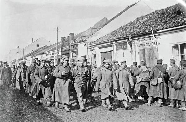 Painting - Russian And Serbian Prisoners In Serbia During World War I by Celestial Images