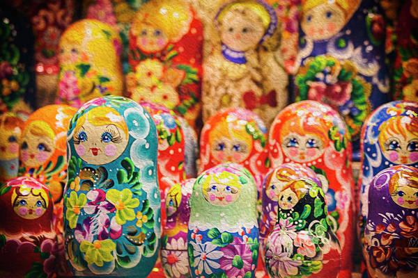 Vienna Photograph - Russian Nesting Dolls At Vienna Chistmas Markets by Carol Japp