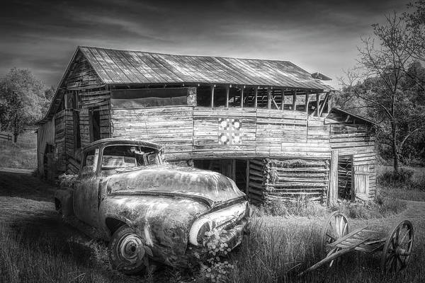 Wall Art - Photograph - Rust Along A Country Road In Black And White by Debra and Dave Vanderlaan