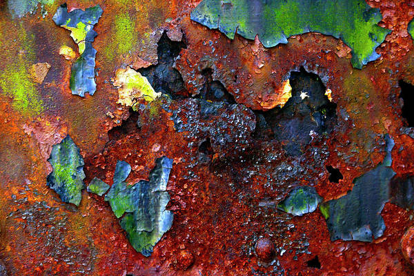 Wall Art - Photograph - Rust And Paint Can Make Art by Paul W Faust - Impressions of Light