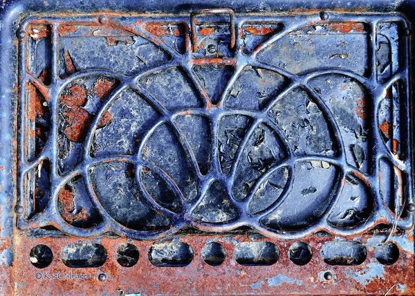 Wall Art - Mixed Media - Rusted Stove Door by Kae Cheatham