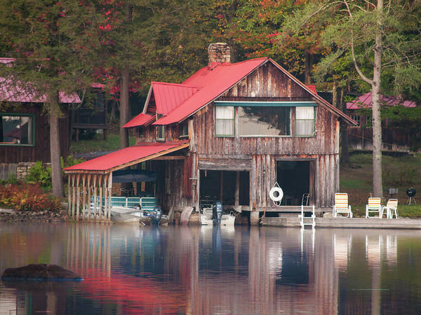 Photograph - Rustic Boat House by Stewart Helberg