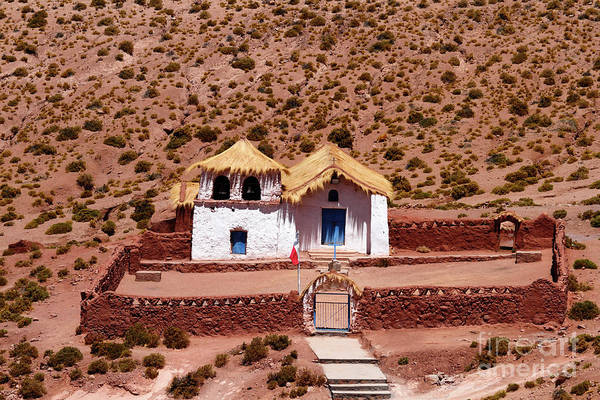 Photograph - Rustic Church At Machuca Chile by James Brunker