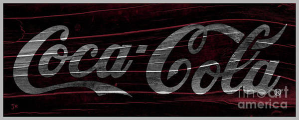 Wall Art - Photograph - Rustic Coca Cola Wave by John Stephens