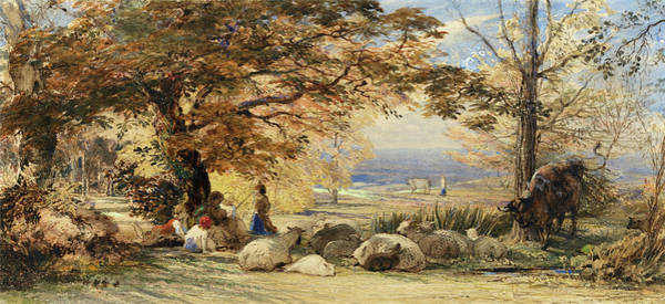 Wall Art - Painting - Rustic Contentment - Digital Remastered Edition by Samuel Palmer