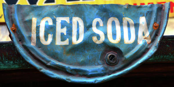 Wall Art - Photograph - Rustic Iced Soda Sign by David Lee Thompson