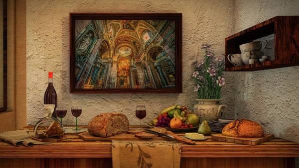 Wall Art - Digital Art - Rustic Italian Still Life by Louis Ferreira