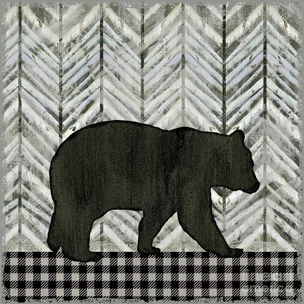 Wall Art - Painting - Rustic Mountain Lodge Black Bear by Audrey Jeanne Roberts
