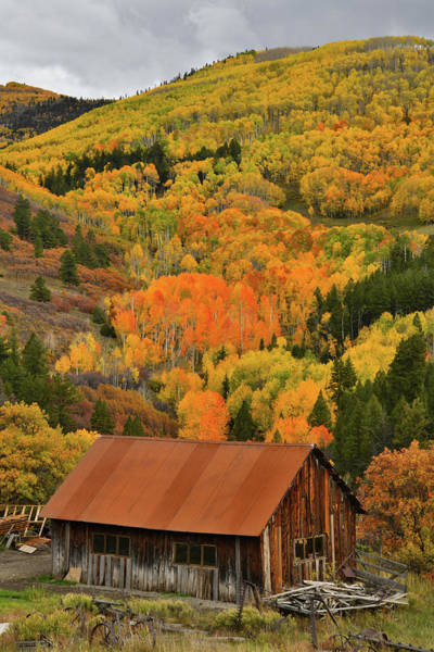 Photograph - Rustic Ranch And Fall Colors Along Last Dollar Road by Ray Mathis
