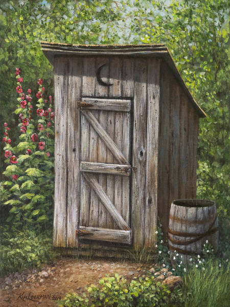 Painting - Rustic Rest Stop by Kim Lockman