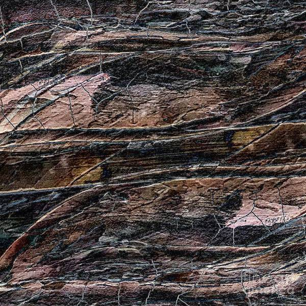 Painting - Rustic Textured Cracked Painting by Sheila Wenzel