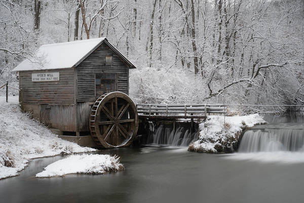 Photograph - Rustic Winter Mill by Tailor Hartman