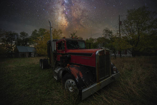 Semi Truck Photograph - Rusty  by Aaron J Groen