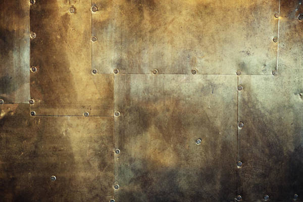 Damaged Photograph - Rusty And Damaged Metal Background by Vizerskaya