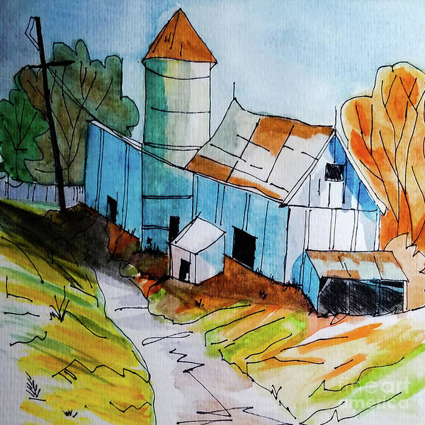 Wall Art - Painting - Rusty Barn by Diane E Berry