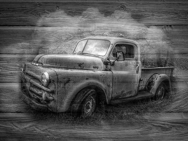 Wall Art - Photograph - Rusty Black And White by Debra and Dave Vanderlaan