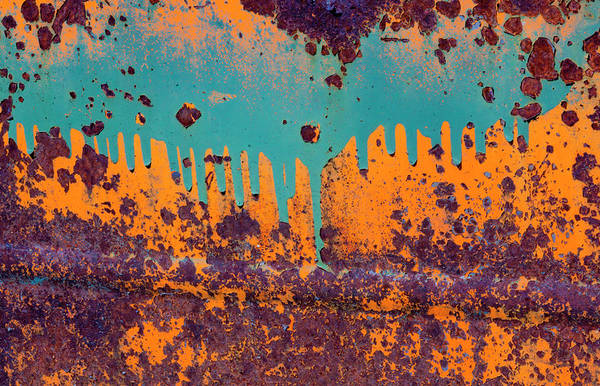 Car Part Photograph - Rusty Car Door, Shaniko, Oregon, Usa by Mint Images/ Art Wolfe