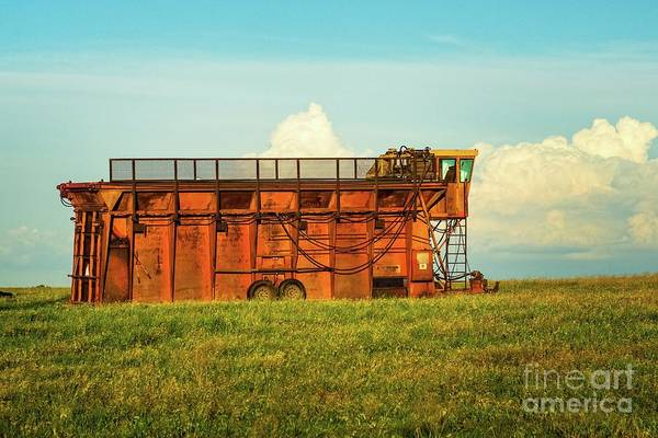 Photograph - Rusty Cotton Baler  by Imagery by Charly