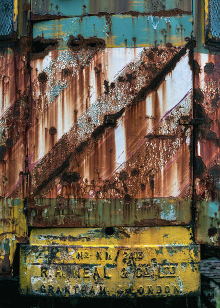 Peeling Photograph - Rusty Crane by Dave Bowman