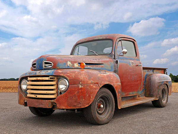 Photograph - Rusty Ford Farm Truck by Gill Billington