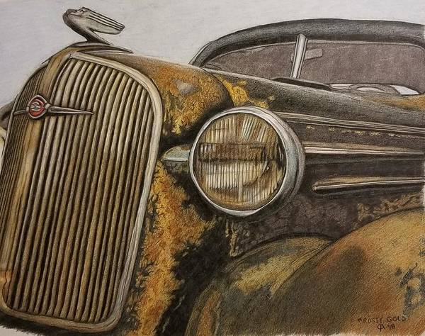Rusty Gold Art Print