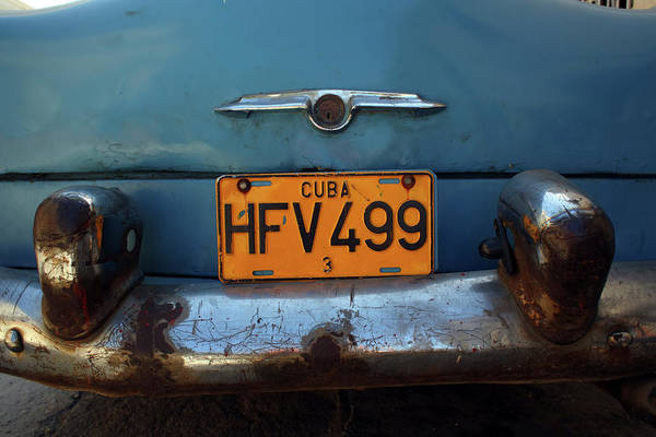 Text Photograph - Rusty Green Chevrolet , Back End by Alex Craig