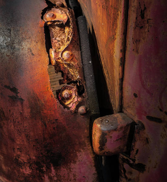 Photograph - Rusty Hinge by Juan Contreras