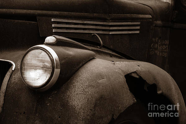 Wall Art - Photograph - Rusty Old Farm Truck 1335 by Edward Fielding