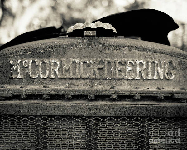 Photograph - Rusty Old Mccormick-deering Tractor by Edward Fielding