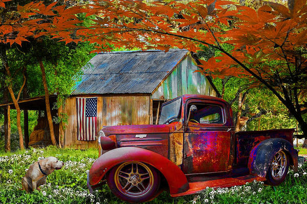 Photograph - Rusty Old Truck On The Farm In Spring by Debra and Dave Vanderlaan