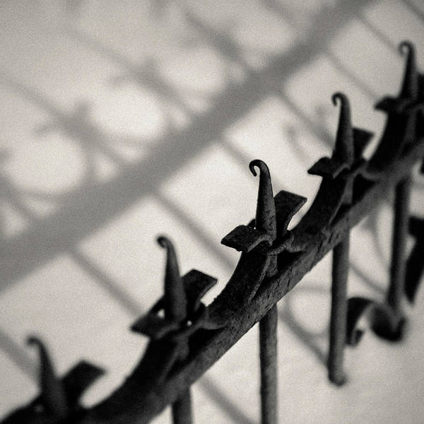 Iron Fence Wall Art - Photograph - Rusty Railings by Dave Bowman