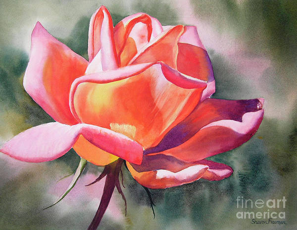 Wall Art - Painting - Rusty Rose Bud by Sharon Freeman