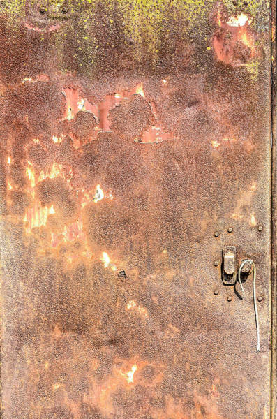 Photograph - Rusty Steel Door by Frans Blok