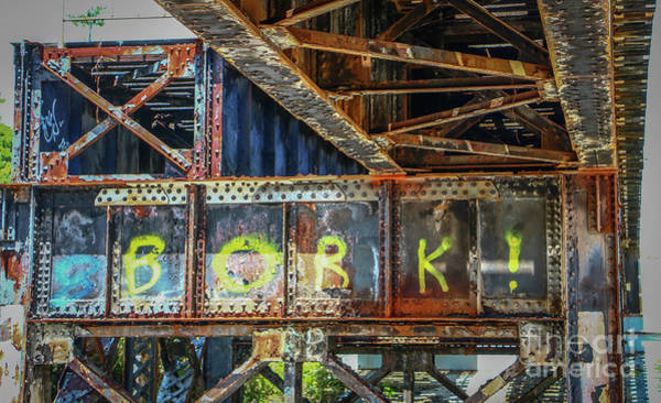 Photograph - Rusty Steel Graffiti by Tom Claud