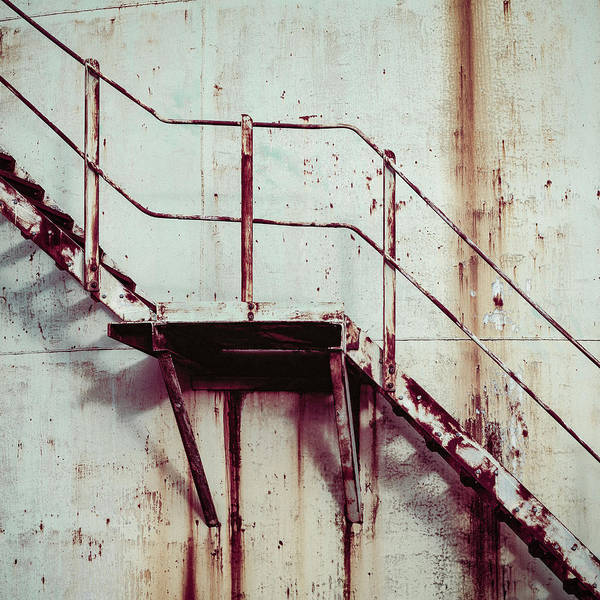 Handrail Photograph - Rusty Steps by Dave Bowman