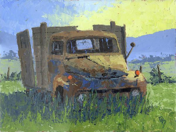 Wall Art - Painting - Rusty Sunrise by David King