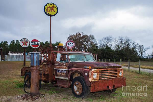 Wall Art - Photograph - Rusty Tow Truck by Rick Mann