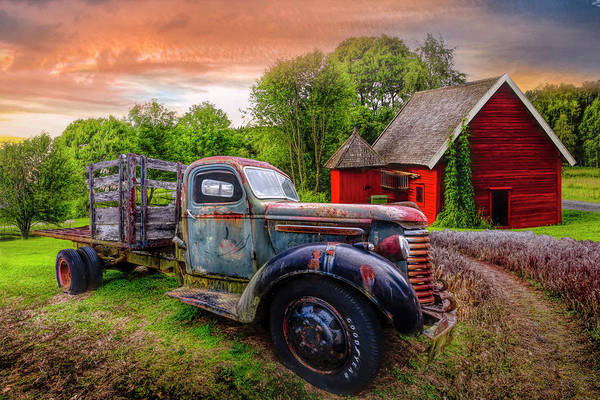 Photograph - Rusty Truck In The Rural Countryside by Debra and Dave Vanderlaan