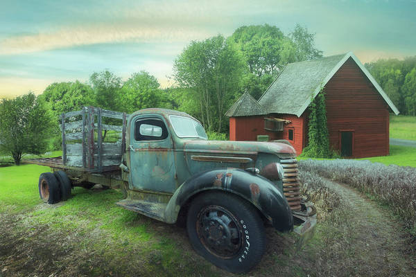 Photograph - Rusty Truck In The Rural Countryside Soft Mists by Debra and Dave Vanderlaan