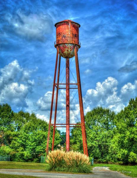 Photograph - Rusty Water Too Historic Watkinsville Georgia Water Tower Art by Reid Callaway