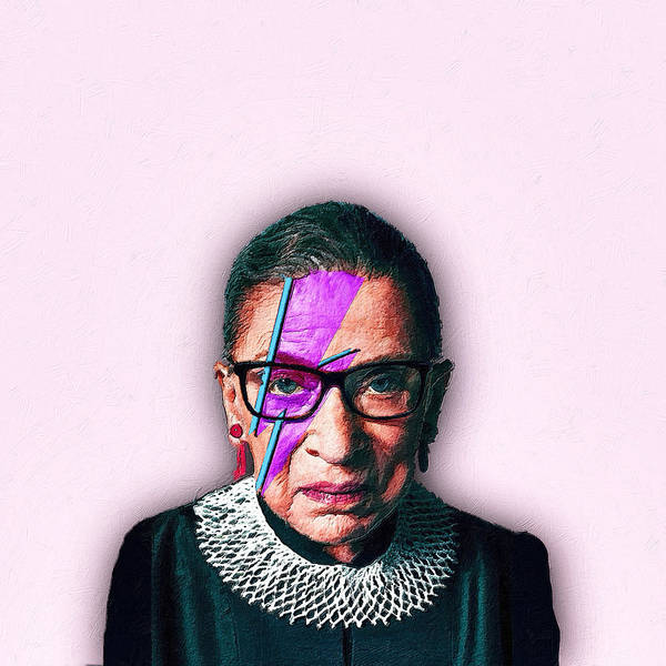 Painting - Ruth Bader Ginsburg David Bowie by Tony Rubino