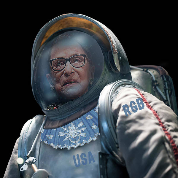 Painting - Ruth Bader Ginsburg In Space Astronaut by Tony Rubino