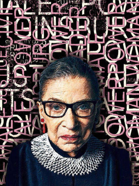 Painting - Ruth Bader Ginsburg Women's Rights Female Power by Tony Rubino