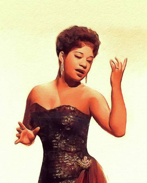 Wall Art - Painting - Ruth Brown, Music Legend by John Springfield