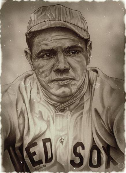 Babe Drawing - Ruth Photograph by Fred Larucci